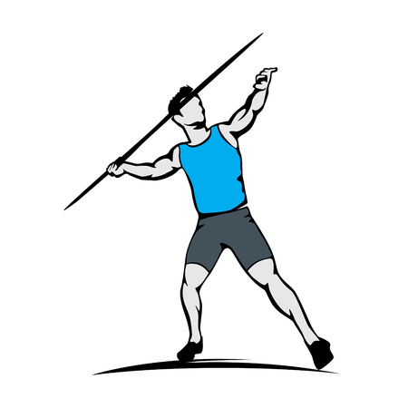 athlete javelin thrower throwing javelin