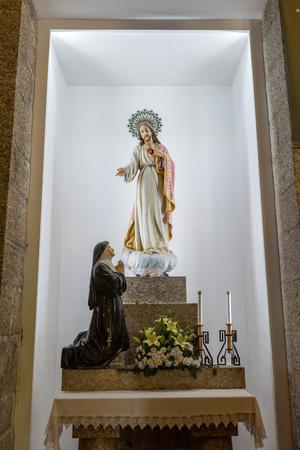 guimaraes: Monte de Santa Catarina or Penha Mountain church, Guimaraes, Portugal Editorial