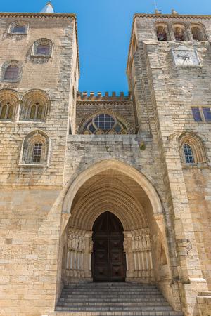 glasswork: cathedral of Evora in Portugal