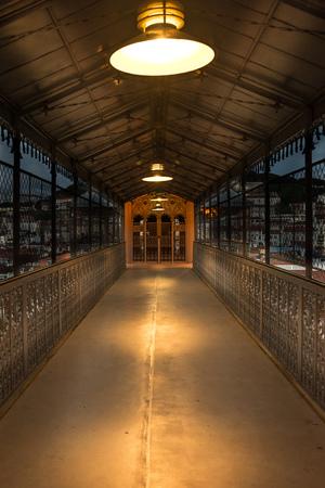 justa: Santa Justa Lift at night. Also called Carmo Lift. Lisbon, Portugal Editorial