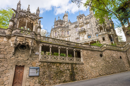 portugal: The Regaleira Palace (known as Quinta da Regaleira) located in Sintra, Portugal