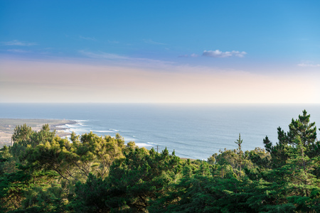 roca: Cabo da Roca, which is the extreme western point of Europe in Sintra, Portugal. Stock Photo