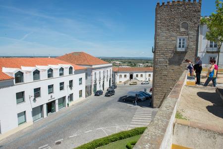 cosiness: EVORA, PORTUGAL, APRIL 30, 2014: old street of Evora city in Portugal