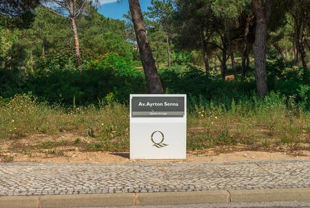 quinta: QUINTA DO LAGO, ALGARVE, PORTUGAL, MAY 2, 2014:Ayrton Senna avenue in Quinta do Lago, Algarve, Portugal Editorial