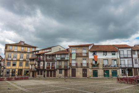 guimaraes: Santiago Square or Praca Sao Tiago in the historic centre of Guimaraes, Portugal