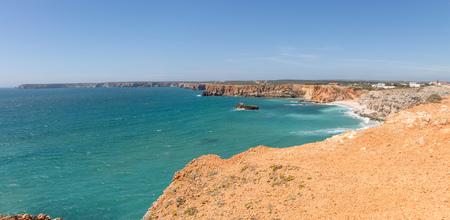 coastline: Coastline and beach in Sagres, Algarve, Portugal