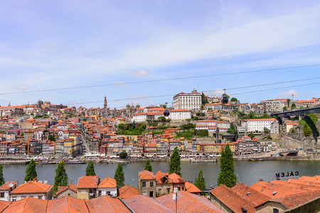ribeira: View of Porto Ribeira and Douro river in Porto, Portugal