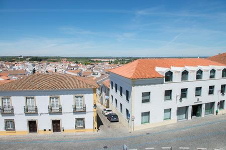 lifestile: EVORA, PORTUGAL, APRIL 30, 2014: old street of Evora city in Portugal