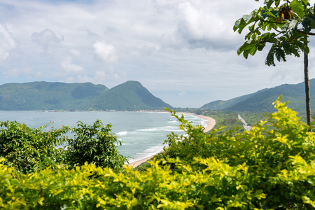 armacao: Armacao beach in Florianopolis, Santa Catarina, Brazil. One of the main tourists destination in south region. Stock Photo