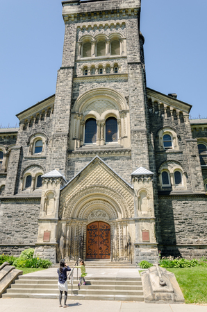 north window arch: Toronto, Canada - 26 may 2013: Old buildings at the University of Toronto in Ontario, Canada Editorial