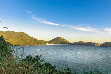 crystalline: Landscapes and crystalline turquoise beaches of Pontal do Atalaia, Arraial do Cabo, Rio de Janeiro, Brazil. Stock Photo