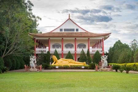 Buddha statue laying down used as amulets of Buddhism religion in Foz do Iguacu, Brazil