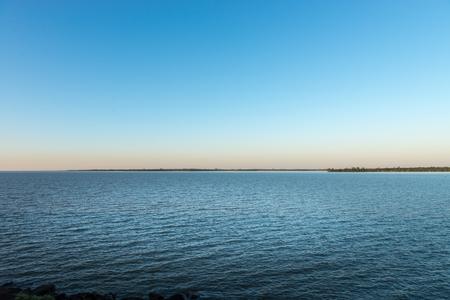 joyride: The lake at the parana river in Itaipu dam park at the brazilian border. Stock Photo