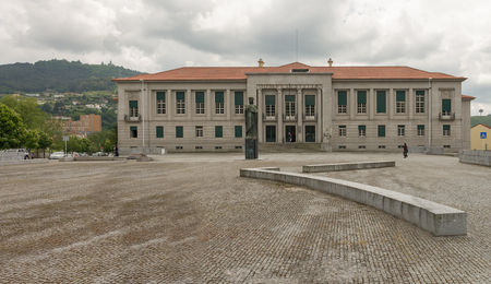 guimaraes: Guimaraes, Portugal - April 28, 2014: Building of the courthouse in Guimaraes, northern of Portugal