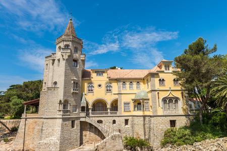 Cascais, Portugal - April 22, 2014: Beautiful building of the Museu Condes de Castro Guimaraes in Cascais, Portugal