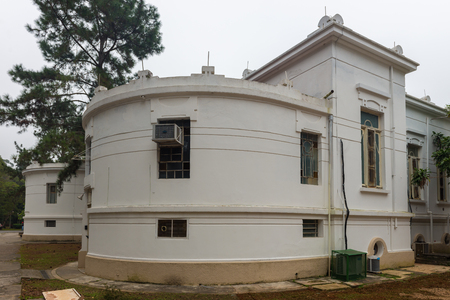 usp: Sao Paulo, Brazil june 18, 2016. Back side of Vital Brazil Building in Butantan Institute, founded in 1901. The institute is a producer of immunobiologicals for public health,  vaccines and sera.