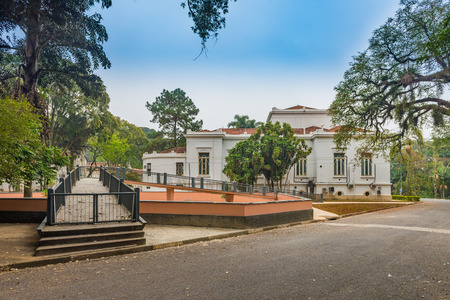 immunological: Sao Paulo, Brazil june 18, 2016. Back side of Vital Brazil Building in Butantan Institute, founded in 1901. The institute is a producer of immunobiologicals for public health,  vaccines and sera.