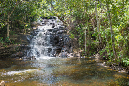 lost lake: Nature with waterfall and stream in Itacare Bahia Brazil Stock Photo