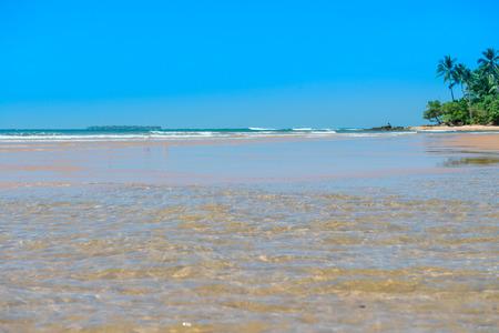 Landscapes of the beach at the  peninsula de Marau in Bahia Brazil Stock Photo