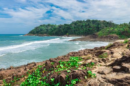 Amazing wild coastline in Itacare at the Bahia state in Brazil