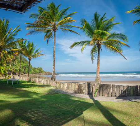 Itacare, Brazil - December 7, 2016: Spectacular and impressive paradise beach at the Itacare Bahia state Brazil Northeast