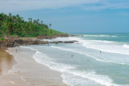 Itacare, Brazil - December 6, 2016: View of the beautiful Tiririca beach at the Itacare city in Bahia Brazil