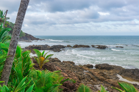 Spectacular and impressive paradise beach at the Itacare Bahia state Brazil Northeast