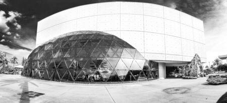 Saint Petersburg, USA - jun 16, 2018: Black and White view of the Salvador Dali museum