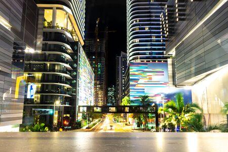 Miami, USA - jun 12, 2018: View of the Miami Downtown at night