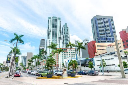 Miami, USA - jun 10, 2018: Buildings of  Miami Downtown at the daylight