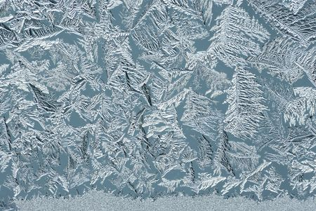thee: Hoarfrost on glass, texture of ice in thee cold winter.