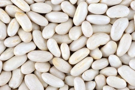 Seed of white beans close up Stock Photo