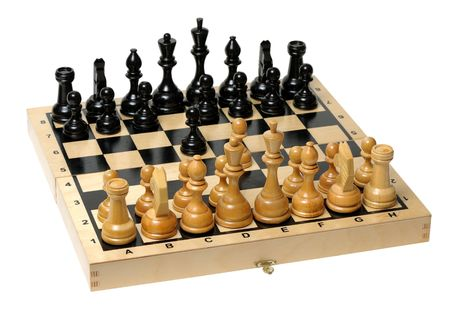 Chess board with pieces apart before the party Stock Photo - 5912753
