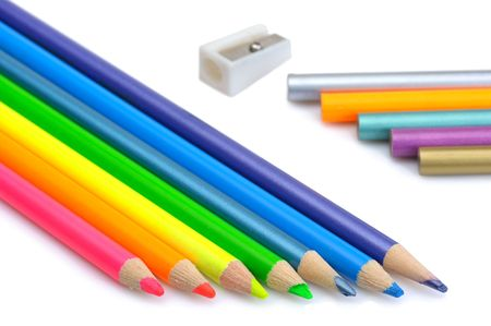 sharpen: Sharpen and unsharpen colored pencils and pencil sharpener.