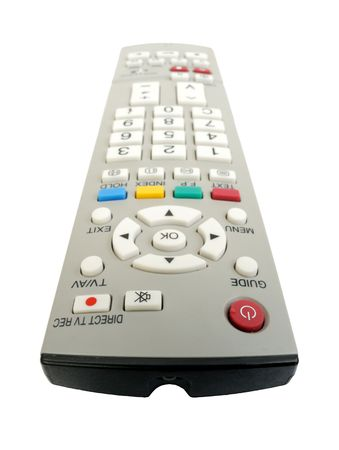 Remote control on a white background, isolated photo