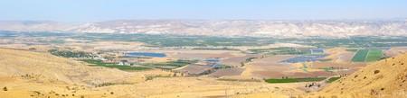 Panorama of the Jordan Valley, 5 shots, top view