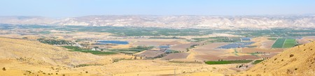 Panorama of the Jordan Valley, 5 shots, top view