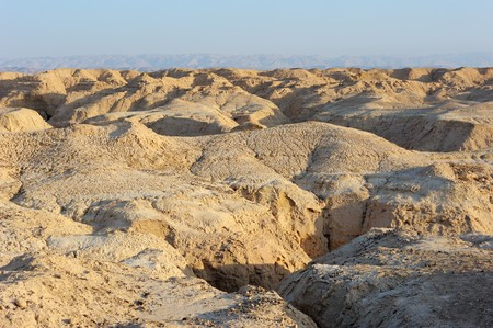 arava: Arava desert (southern Israel) in the first rays of the sun