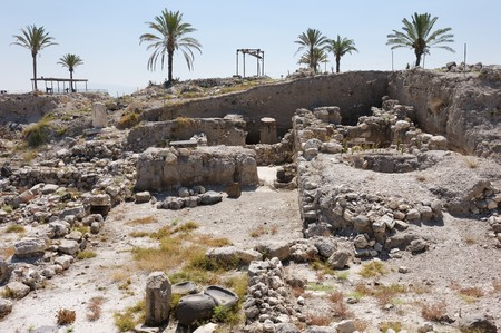 Remains of settlements on the hill Megiddo (early bronze age), mentioned in the Bible.
