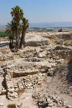 mentioned: Remains of settlements on the hill Megiddo (early bronze age), mentioned in the Bible.