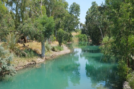River Jordan near lake Kinneret