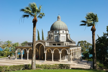 Church on the Mount of Beatitudes near Lake Kinneret (Israel)