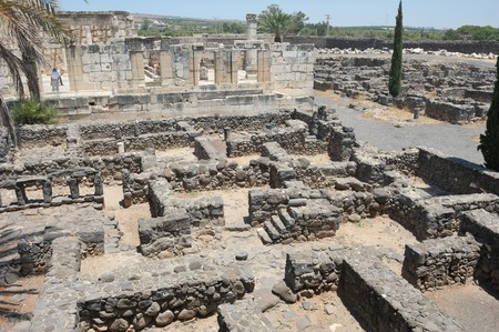 preached: Excavations of the ancient city of Capernaum on the shores of Lake Kinneret, where he lived and preached Christ.