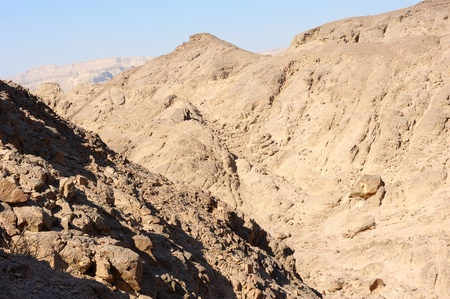 Landscapes and geological formations in the Timna Park in southern Israel photo