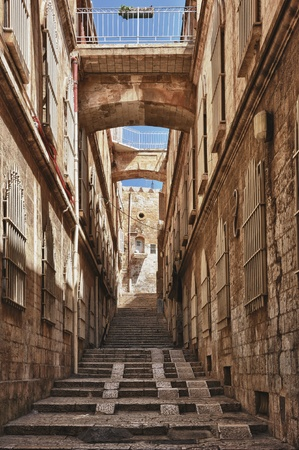 Street in the old part of Jerusalem, Israel