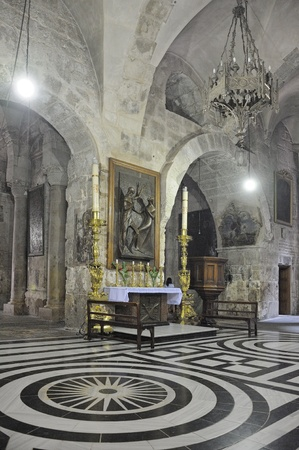church of the holy sepulchre: Interior of the Church of the Holy Sepulchre in Jerusalem