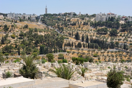 Mount of Olives and the Russian Orthodox Tower and Church of the Ascension