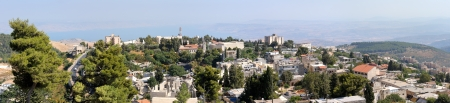 kabbalah: The town of Safed in northern Israel in the morning  Stock Photo