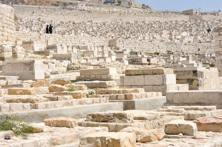 mount of olives: Graves on the Mount of Olives near Jerusalem
