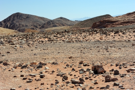 timna: Landscapes and geological formations in the Timna Park in southern Israel